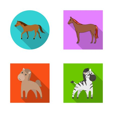 bitmap design of trot and running sign. Set of trot and clipart stock bitmap illustration.