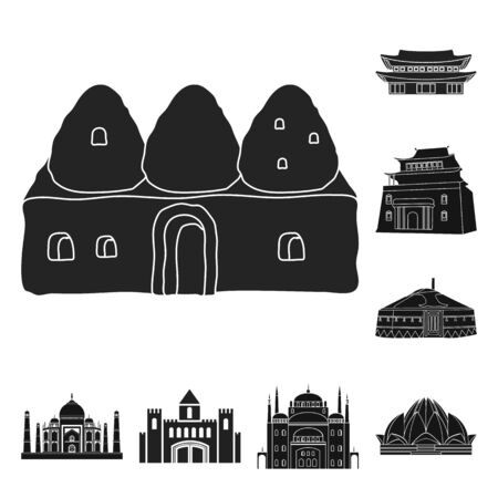 bitmap illustration of and town icon. Set of and house bitmap icon for stock. Stock fotó