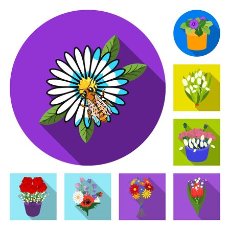 bitmap illustration of spring and wreath symbol. Collection of spring and blossom stock symbol for web.