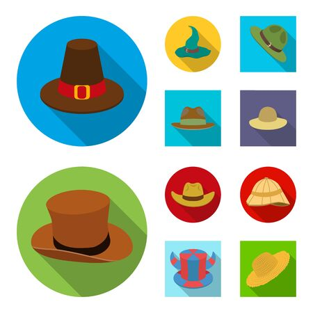 Isolated object of hat and cap sign. Collection of hat and model bitmap icon for stock.