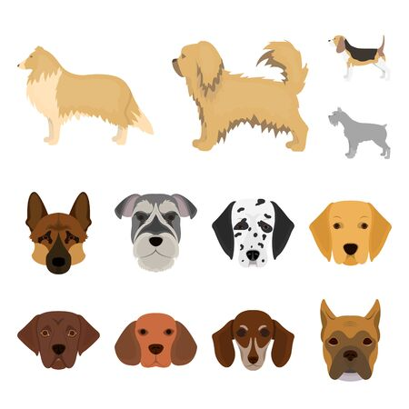 bitmap design of cute and puppy sign. Collection of cute and animal stock bitmap illustration.