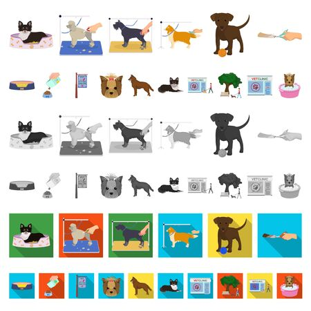 Pet cartoon icons in set collection for design. Care and education bitmap symbol stock web illustration.