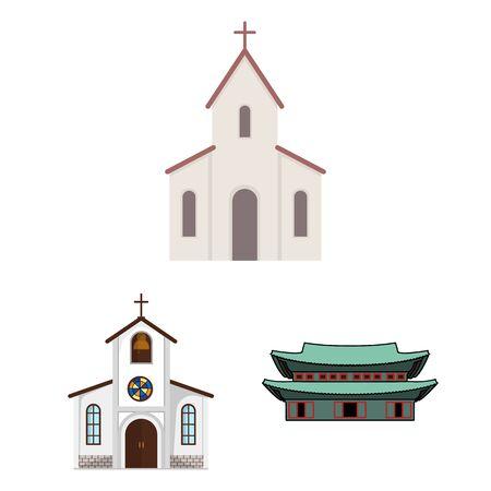 bitmap illustration of religion and wedding symbol. Collection of religion and house stock symbol for web. Stock Photo
