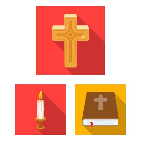 bitmap design of muslim and items icon. Set of muslim and candle stock symbol for web.