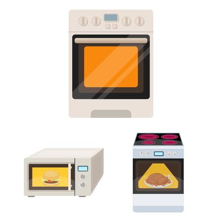 Isolated object of food and inside icon. Collection of food and cooker bitmap icon for stock. Imagens