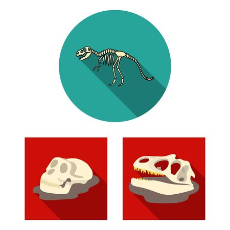 Isolated object of skeleton and character  . Set of skeleton and halloween bitmap icon for stock. 스톡 콘텐츠