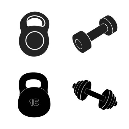 bitmap design of weight  lifting  . Collection of weight and exercise bitmap icon for stock.