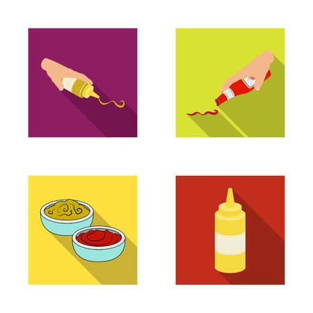 bitmap design of sauce and condiment  . Set of sauce and bowl stock symbol for web.