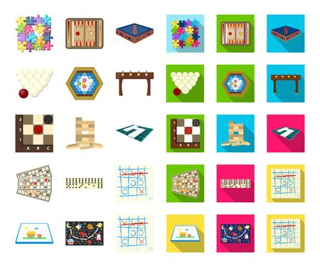 Board game cartoon,flat icons in set collection for design. Game and entertainment bitmap symbol stock web illustration. Stock Photo