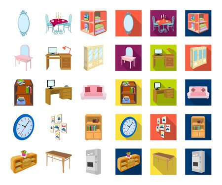Furniture and interior cartoon,flat icons in set collection for design. Home furnishings bitmap isometric symbol stock web illustration. Stockfoto