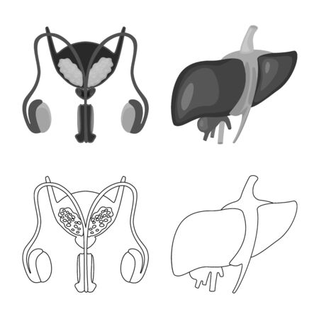 Vector illustration of biology and scientific icon. Collection of biology and laboratory stock vector illustration. Vectores