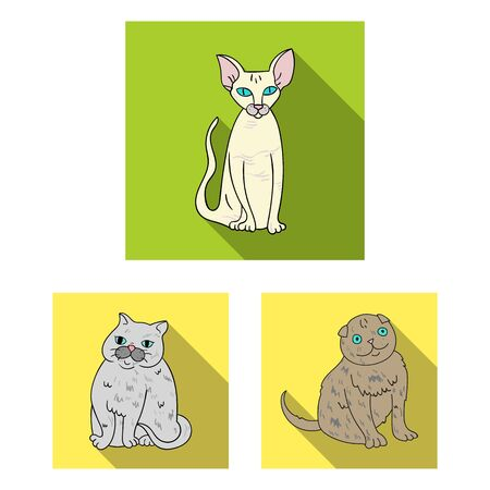 bitmap design of pet and sphynx. Collection of pet and fun bitmap icon for stock.