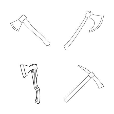 bitmap design of and ax. Set of and crossed bitmap icon for stock. Archivio Fotografico