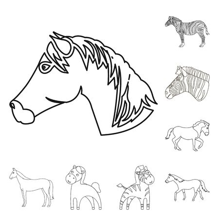 bitmap illustration of trot and running sign. Collection of trot and clipart bitmap icon for stock.