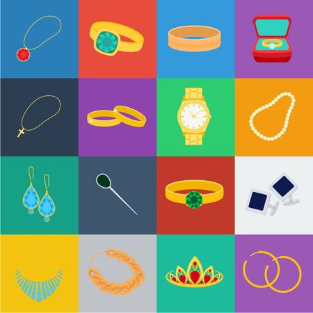 Jewelry and accessories cartoon icons in set collection for design.Decoration bitmap symbol stock web illustration.