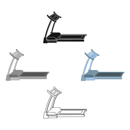 Treadmill. Running simulator for training in the gym.Gym And Workout single icon in cartoon style bitmap symbol stock illustration.