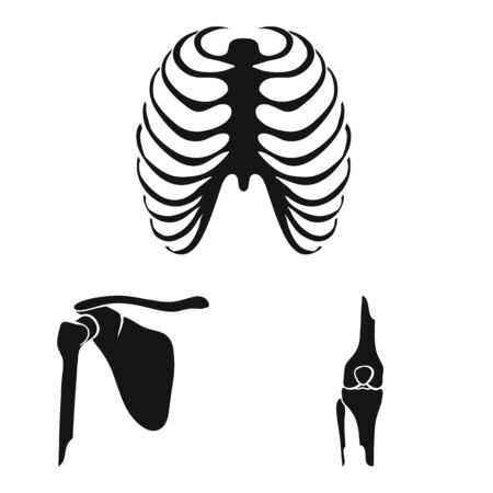 Vector illustration of biology and medical icon. Collection of biology and skeleton stock vector illustration. Stock Illustratie