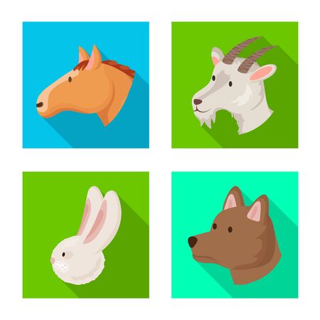 Isolated object of agriculture and breeding icon. Collection of agriculture and organic stock symbol for web.