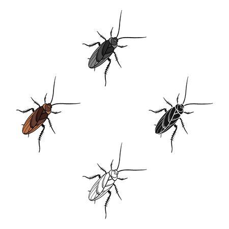 A mustachioed cockroach. Arthropod insect, cockroach single icon in cartoon style bitmap symbol stock isometric illustration web. Stock Photo
