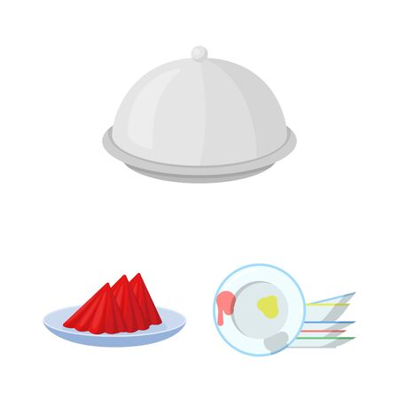 bitmap design of plate and etiquette icon. Set of plate and dinner bitmap icon for stock.