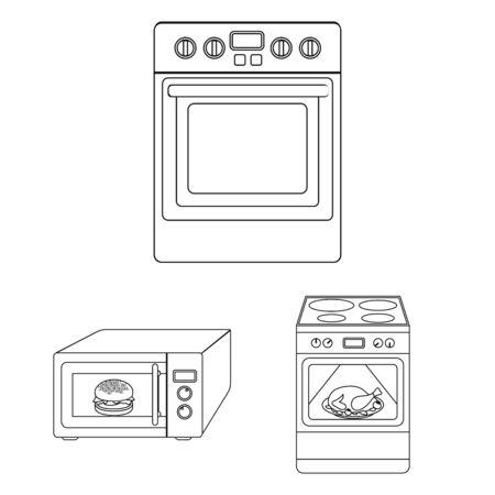 bitmap design of food and inside symbol. Set of food and cooker stock bitmap illustration.