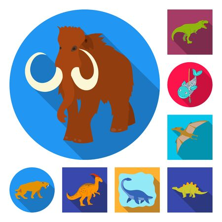 bitmap design of animal and character symbol. Collection of animal and ancient bitmap icon for stock.
