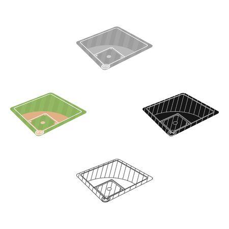 Baseball court. Baseball single icon in cartoon style bitmap symbol stock illustration web.