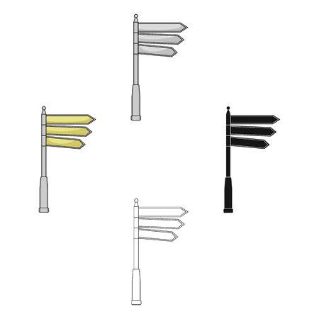 Sign single icon in cartoon style.Sign bitmap symbol stock illustration web.