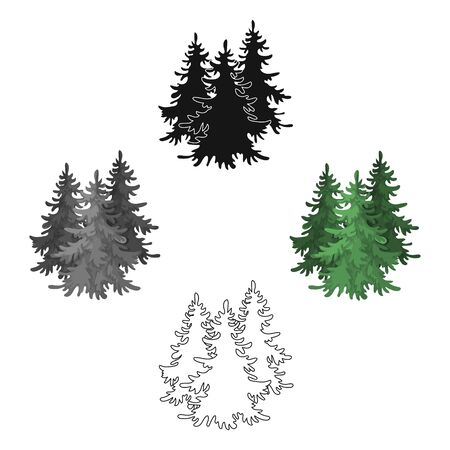 Canadian spruce. Canada single icon in cartoon style bitmap symbol stock illustration web.