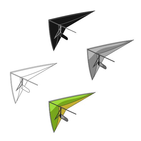 Hang gliding.Extreme sport single icon in cartoon style bitmap symbol stock illustration web. Stock Photo