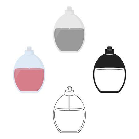 Perfume icon in cartoon style isolated on white background. Make up symbol bitmap illustration.