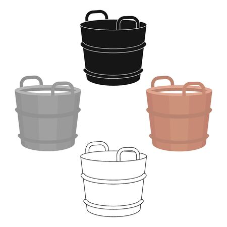 Milk bucket icon cartoon. Single bio, eco, organic product icon from the big milk cartoon.