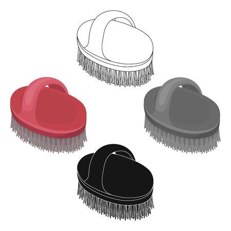 Animal brush.Pet shop single icon in cartoon style bitmap symbol stock illustration .