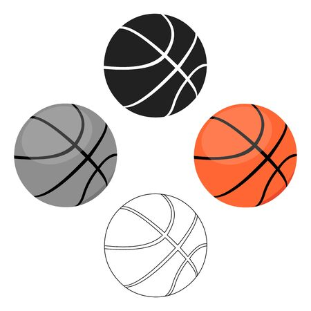 Basketball icon cartoon. Single sport icon from the big fitness, healthy, workout bitmap illustration . Фото со стока