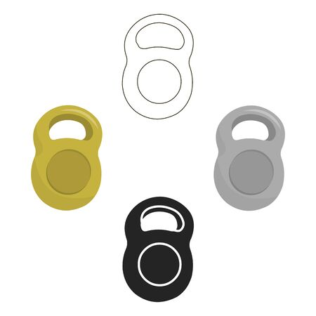 Weight icon cartoon. Single sport icon from the big fitness, healthy, workout .