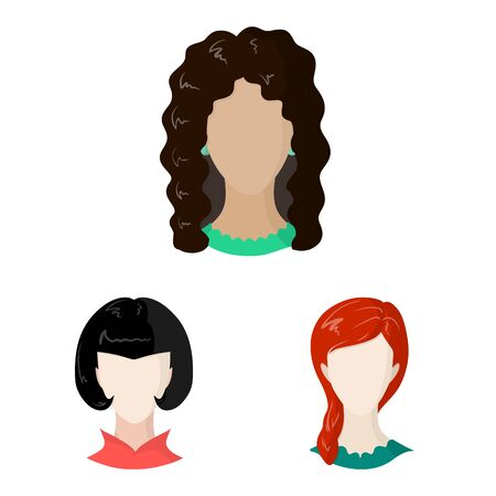 Vector design of avatar and dummy . Set of avatar and figure stock vector illustration.