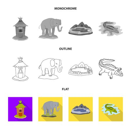 Isolated object of nature and fun icon. Set of nature and entertainment stock vector illustration. Ilustração