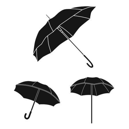 bitmap illustration of umbrella and cloud icon. Collection of umbrella and rain bitmap icon for stock. Imagens