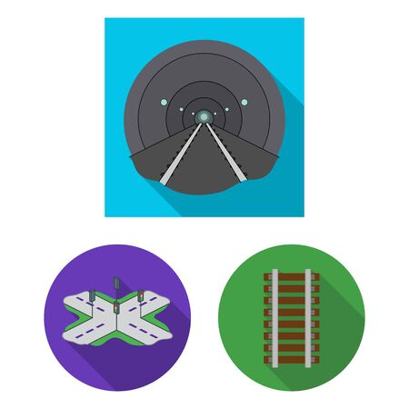 bitmap illustration of road and street icon. Set of road and highway stock bitmap illustration. Stockfoto