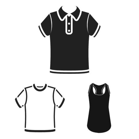 bitmap design of clothes and wear logo. Collection of clothes and short bitmap icon for stock. Stock Photo