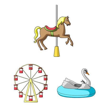 bitmap illustration of fun and horse icon. Collection of fun and circus stock symbol for web. 스톡 콘텐츠