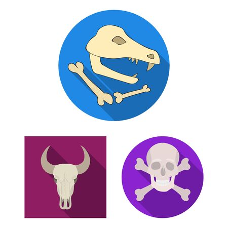 Isolated object of skeleton and character sign. Set of skeleton and halloween stock symbol for web. 版權商用圖片