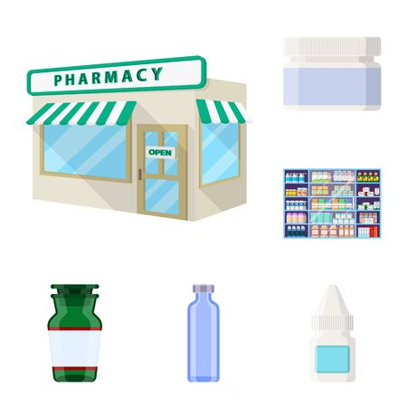 bitmap design of pharmacy and pharmaceutical symbol. Collection of pharmacy and health stock symbol for web.