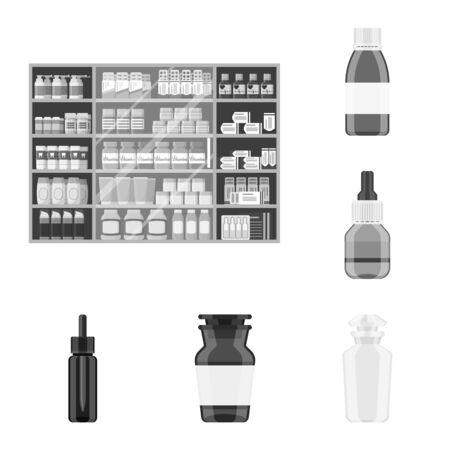 bitmap illustration of medicine and health logo. Set of medicine and help stock bitmap illustration. Reklamní fotografie