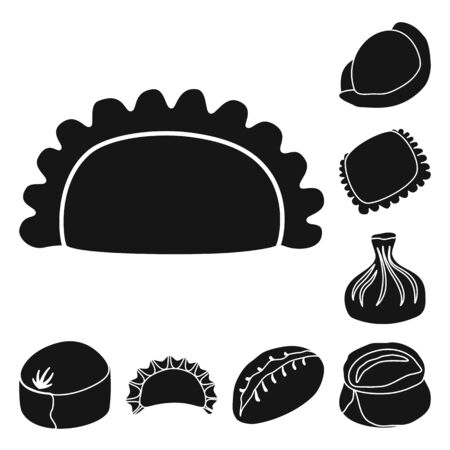 bitmap illustration of cuisine and appetizer icon. Set of cuisine and food bitmap icon for stock.
