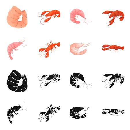 bitmap illustration of appetizer and ocean icon. Collection of appetizer and delicacy stock bitmap illustration. 写真素材