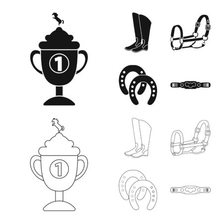bitmap illustration of equipment and riding icon. Collection of equipment and competition stock symbol for web. 版權商用圖片