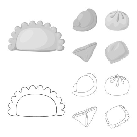 bitmap design of products and cooking icon. Set of products and appetizer bitmap icon for stock.