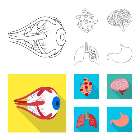 bitmap design of biology and scientific icon. Set of biology and laboratory stock symbol for web.