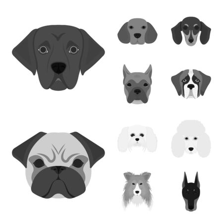 bitmap design of cute and puppy symbol. Set of cute and animal bitmap icon for stock.